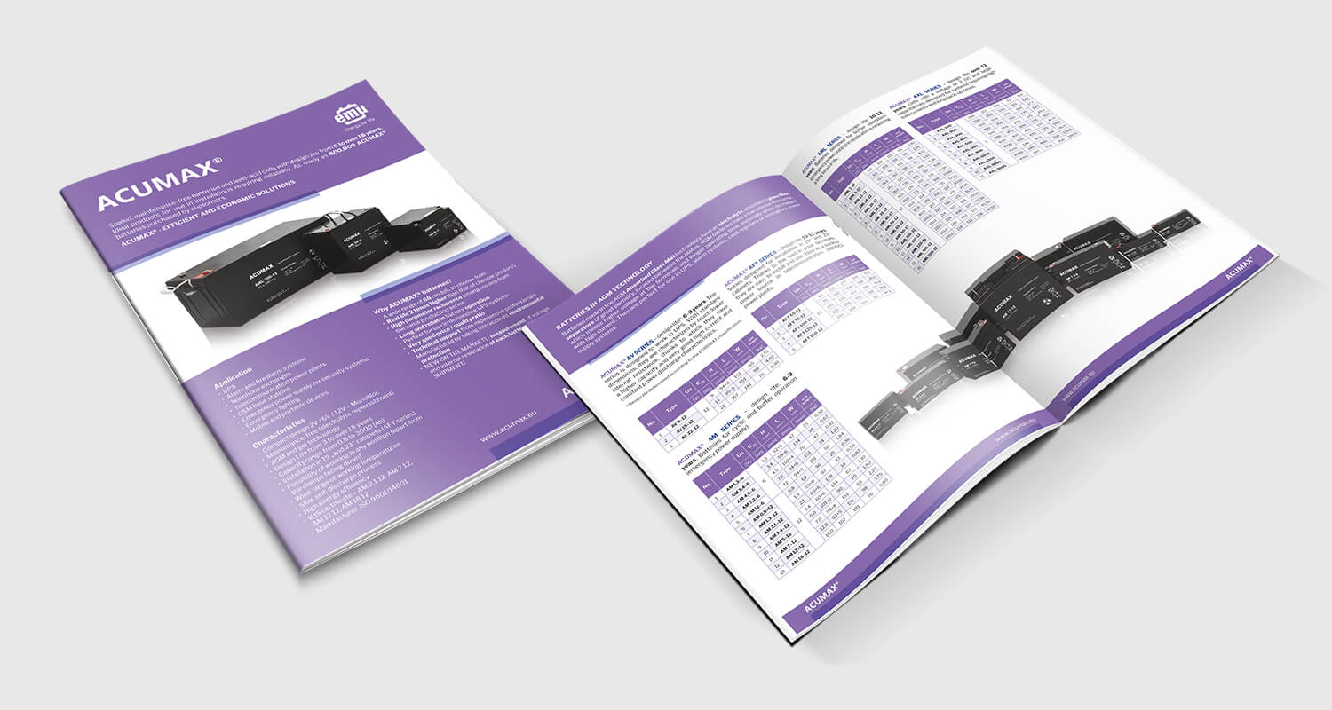 Design example - product brochure