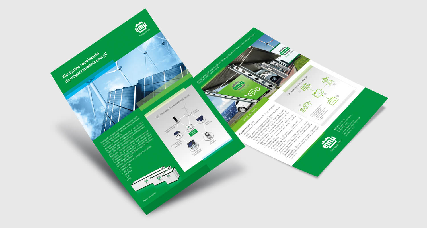 Design example - product leaflets