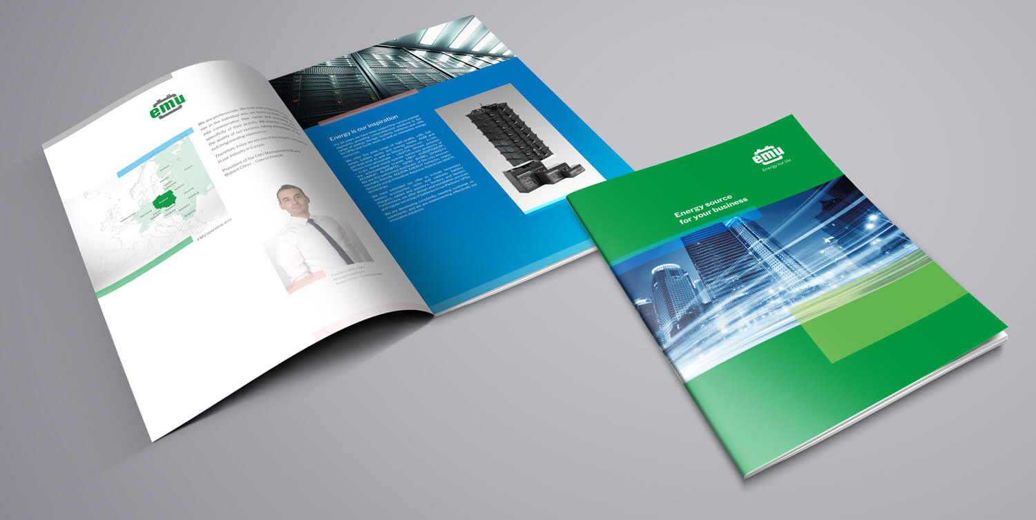 Design example - company brochure
