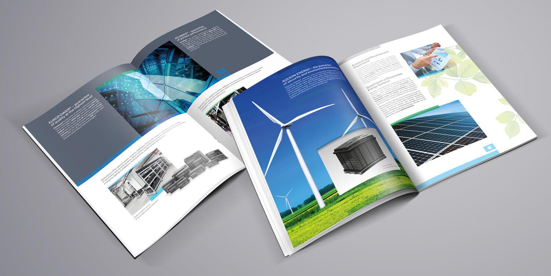 Design example - company brochure