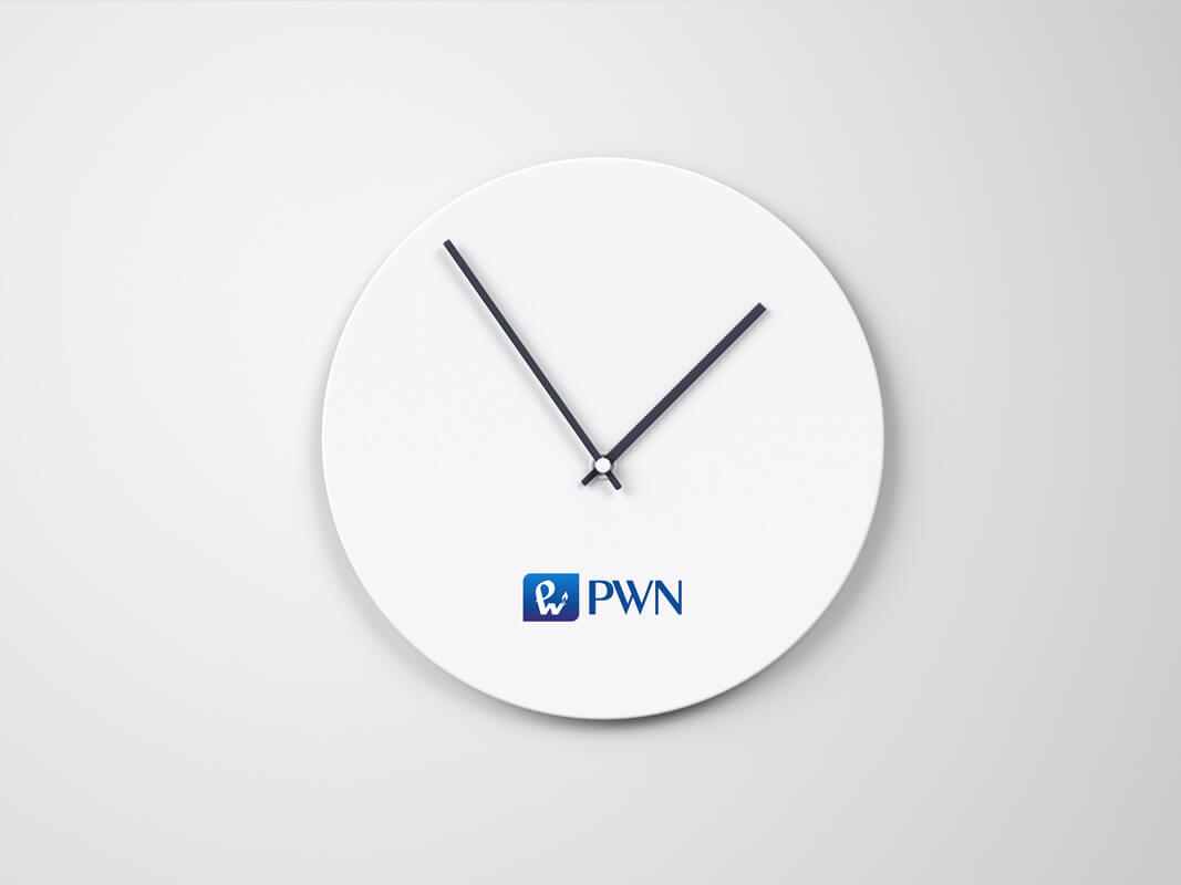 Design example - corporate identity: clock
