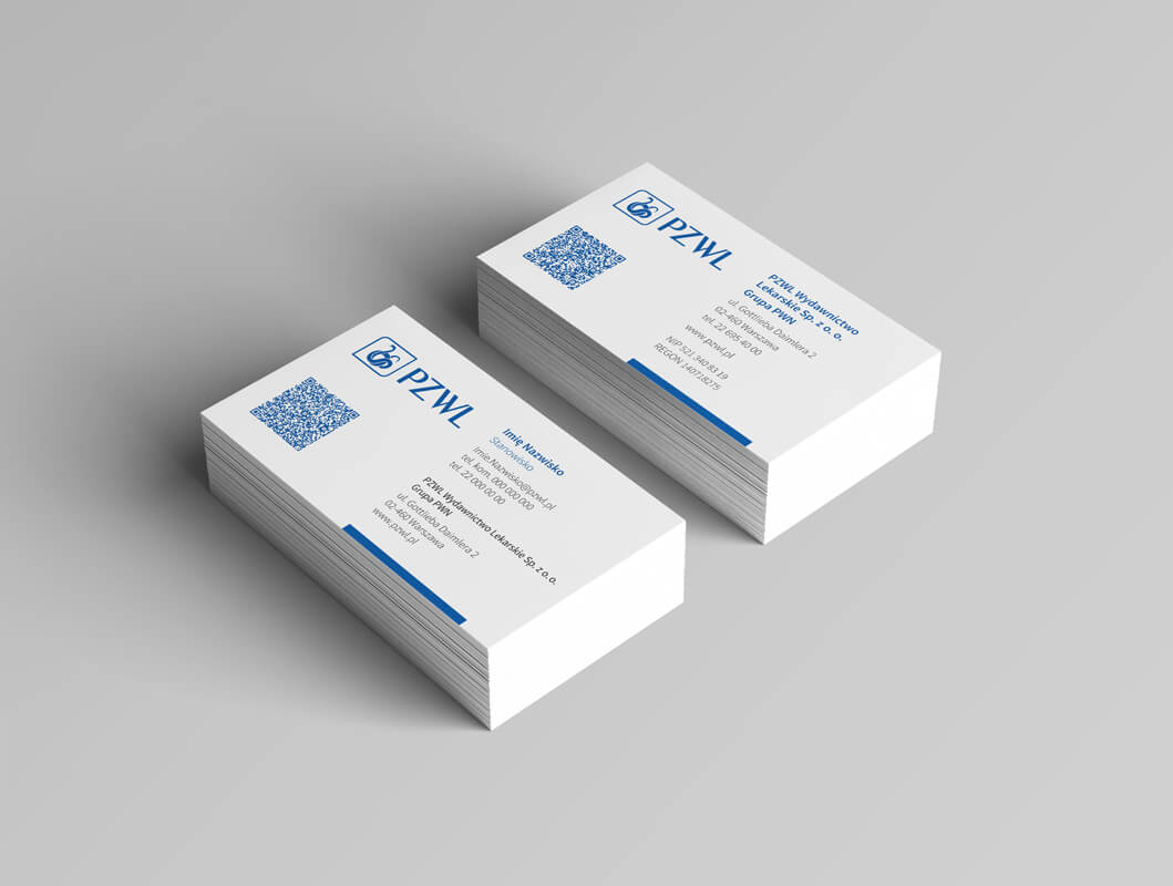 Graphic design example: corporate identity, business card