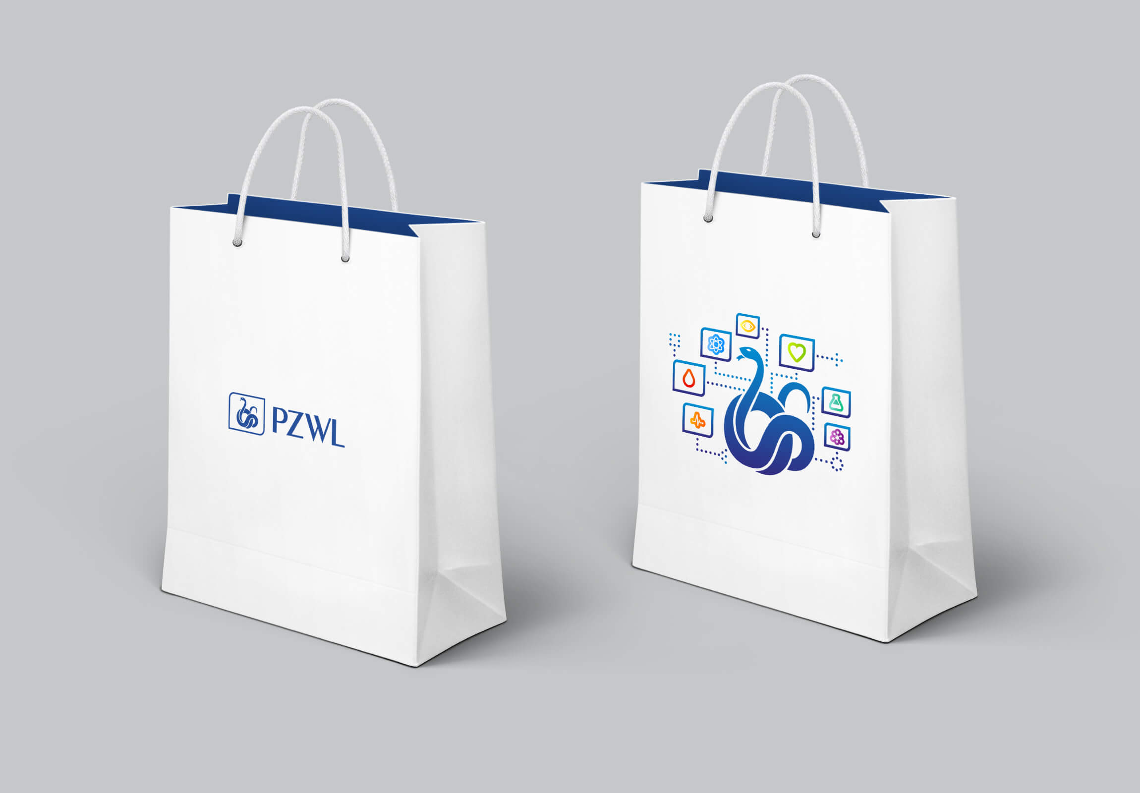 Graphic design example: corporate identity, promo bag
