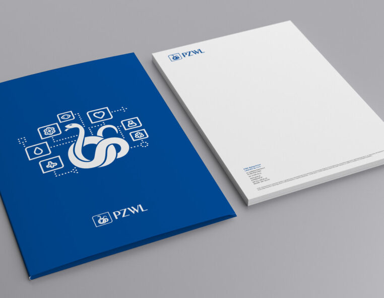 Graphic design example: corporate identity, folder, letterhead