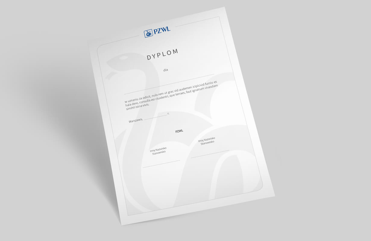 Graphic design example: corporate identity, diploma