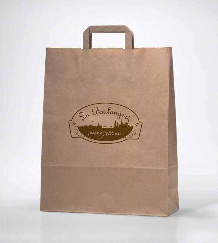 Graphic design example: logo, promo bag