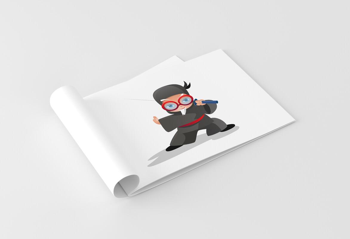 Graphic design example: illustration