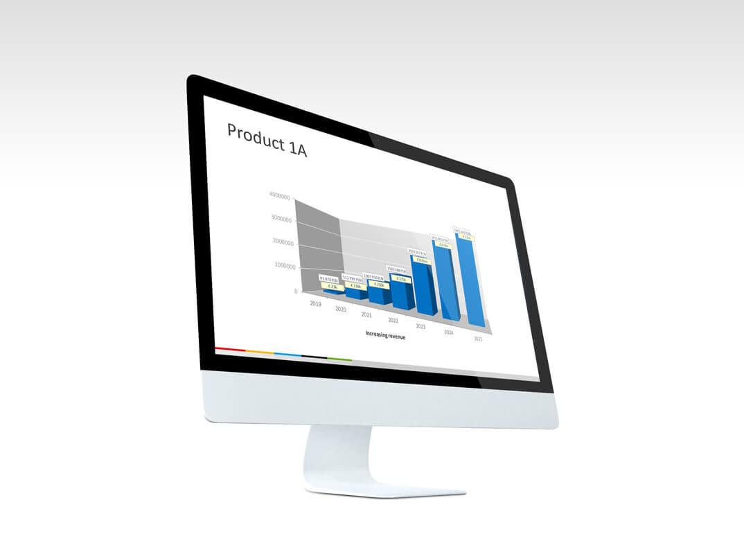 Graphic design example: presentation screen