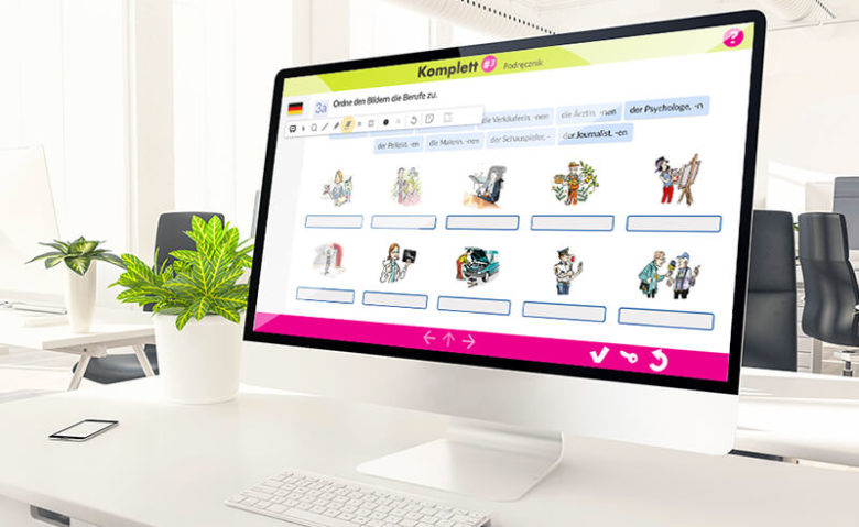 Graphic design example: e-learning lesson